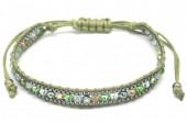 F-A17.2 B2030-001D Bracelet with Faceted Glassbeads Green