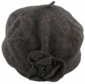 Z-C1.6  Woolen Hat with Flower Grey