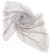 X-G4.1  S004-016 Scarf with Studs 180x70cm Grey