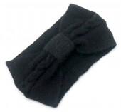 R-G6.1 H401-024A Soft Knitted Headband Black