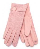 R-J7.1 GLOVE403-097B Gloves with Button Pink