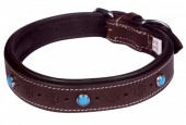 G-E15.1 MTDC-004 Leather Dog Collar Brown S 49x2.5cm
