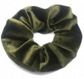S-H7.3 H305-009A1 Velvet Scrunchie Green