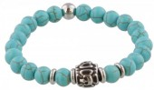 A-A17.4 S. Steel Bracelet with Semi Precious Stones Turquoise