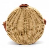 S-A8.2 BAG323-002 Straw Round Bag 18.5x7cm