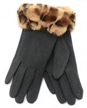 T-M7.1 GLOVE403-115B Gloves Fluffy Leopard Grey