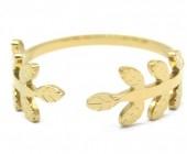 D-F8.1 R2033-004G S. Steel Ring Adjustable Gold