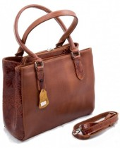 Q-I5.2  Luxury Leather Bag 35x26cm CognacQ-I5.2  Luxury Leather Bag 35x26cm Cognac