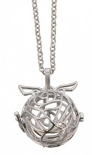 E-E19.1 Angel Catcher with Wings Silver 20mm