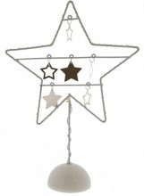 Y-C4.5 Decorated Metal Star with LED Lights 39x25x9cm White