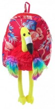 Y-E2.1 Y-E5.4 BAG416-003B Plush Backpack Flamingo Red