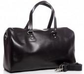 T-D8.2  BAG-921 Luxury Leather Travel-Sport Bag 47x32x16cm Black
