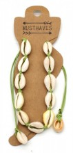 D-A19.2 ANK316-012 Anklet Shells Green