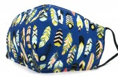 B-A23.1  SKA517 Cotton Fashion Mask with Room for Filter Washable - Feathers