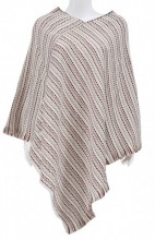 Y-D3.1 SCARF008-014 Striped Poncho