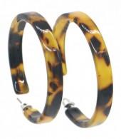 D-A6.1 E515-004 Acrylic Earrings 4cm Leopard