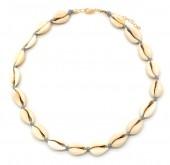 D-D9.1 N316-012 Choker Necklace Shells 37-43cm Grey