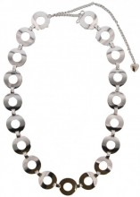 S-I8.3  Metal Chain Belt Circles with open Circles