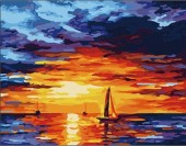Y-B2.4 MS8097 Paint By Number Set Sunset 50x40cm