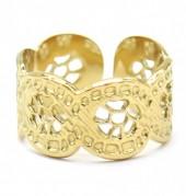 D-F18.1 R2033-002G S. Steel Ring Adjustable Gold