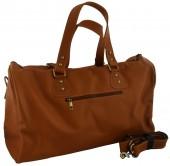 Z-B3.4 BAG-921 Luxury Leather Travel-Sport Bag 47x32x16cm Light Brown