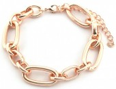 E-C7.5 B2019-015RG Metal Chain Bracelet Rose Gold