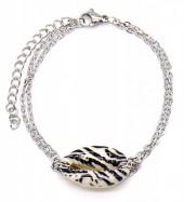 A-A8.1 B2121-007S S. Steel Bracelet Shell Zebra Silver