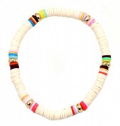 C-D6.3 B1925-007 Surf Bracelet with Rubber Beads Nude