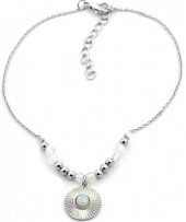 B-B20.1 B2019-043S Anklet with Moonstone Silver