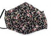 E-F10.1 FM042-004J22 Face Mask with Room for Filter - Individually Packed - Flowers