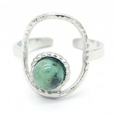 B-E14.1 R220-054S S. Steel Ring with Stone