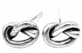 D-B5.4 SE105-025 925S Silver Earrings Knot