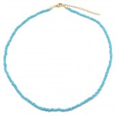 A-E2.2 N2061-001A Necklace with Glass Beads Blue