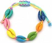 D-F7.1 B2001-022A Bracelet Multi Colored Shells