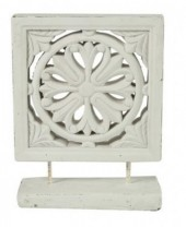Z-C3.2 Concrete Ornament White Wash 32cm
