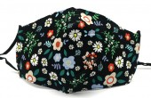 E-A10.1 FM042-004J23 Cotton Fashion Mask with Room for Filter Washable - Flowers