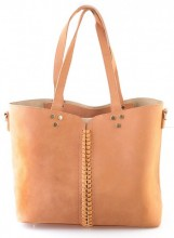 X-P10.1 BAG120-003 Shopper with Bag in Bag Brown 42x29cm