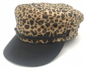 Y-E3.4 HAT402-002A Sailor Cap Animal Print Brown