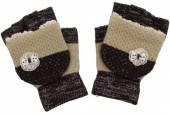 I-E5.1 Kids Gloves with a Bow Brown