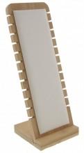K-F5.1  PK424-014 Jewelry Display Wood with PU 27x10x9.5cm