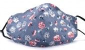 E-A23.2 FM042-004J26 Cotton Fashion Mask with Room for Filter Washable - Flowers