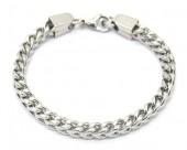 A-G10.2 B2063-016S S. Steel Bracelet Round Chain 0.6x19.5cm Silver
