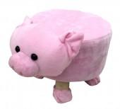 Y-D5.1 STOOL506-002 Plush Stool Pig