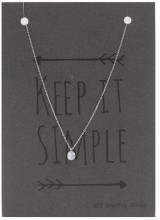 D-E7.5 SN104-005 Necklace 925 sterling Silver with Crystal