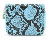 X-I8.2 WA321-001 Small Wallet Snakeskin Blue