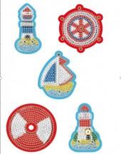 T-J4.2 QC036 Diamond Painting Keychain Set 5pcs