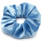 S-H2.4 H305-009A7 Velvet Scrunchie Blue