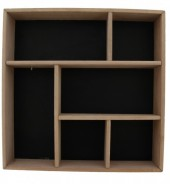R-O3.1 Wooden Display Cabinet-Box 35x35x7cm Black