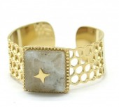D-F22.1 R2033-003G S. Steel Ring Stone and Star Adjustable