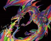 Y-D2.2 MS7500 Paint By Number Set Dragon 50x40cm